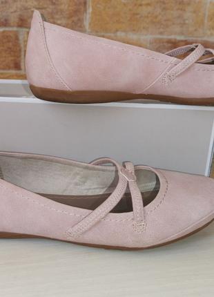 Продам нежные мягкие балетки немецкого бренда Tamaris. Размер 37.