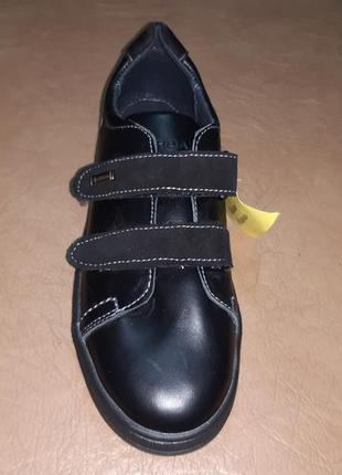 Черные кожаные спортивные туфли на мальчика 32-39 р. jordan