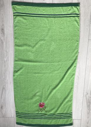 Зеленое полотенце, рушник, полотенце, банное полотенце, большо...