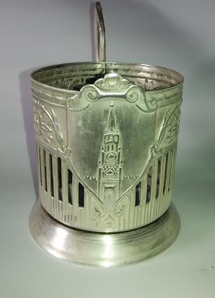 Подстаканник Спасская башня мельхиор серебрение