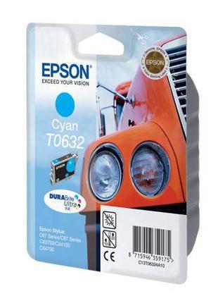 Картридж для принтера и МФУ Epson Epson T0632 (Cyan)