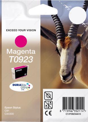 Картридж для принтера и МФУ Epson Epson T0923 (Magenta)