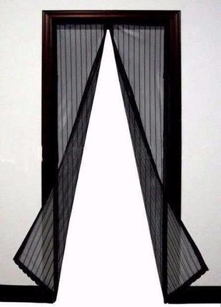 """Антимоскитная магнитная шторка""""Magic Mesh""""сетка на дверь 210х100"""