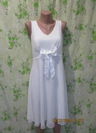 Нежное платье с бантиком/молочного цвета
