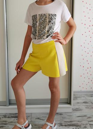 Новые трендовые яркие шорты Zara, рост 150 -175 см