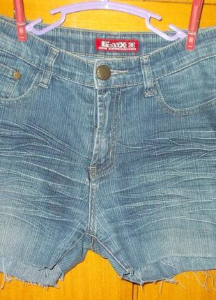 Шорты детские подростковые джинсовые на 12-15 лет синие