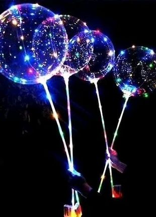 Воздушный шар / светодиодный Bobo led с гирляндой на батарейках