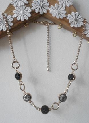"""Нарядное вечернее ожерелье """"марлен"""" цепочка бусы украшение на шею"""