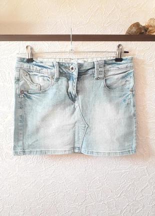 Monday  женская короткая джинсовая юбка мини