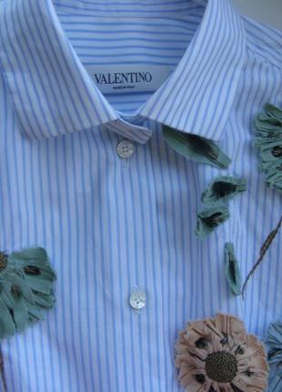 Valentino удлиненная блуза рубашка полоска 42-размер. оригинал...