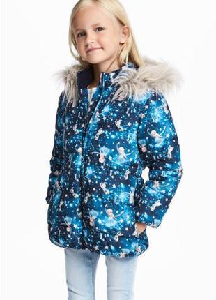 Детская утепленная куртка девочке/h&m германия/эльза-крижане с...