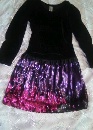 Крутое Платье На девочку пайетками из США!