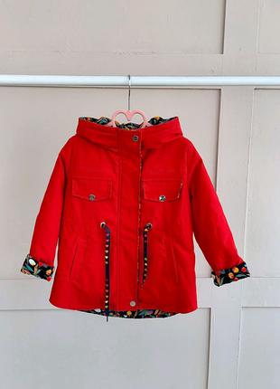 Осенняя курточка для девочек размеры от 2 до 12 лет
