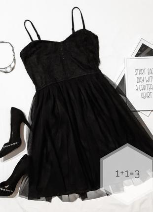 Mudd вечернее платье бюстье s-m-l черное короткое пачка кружев...