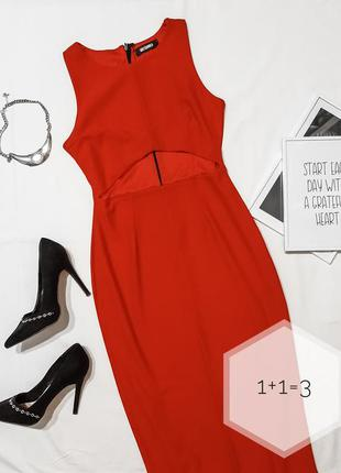 Missguided стильное миди платье xs-s по фигуре карандаш базово...