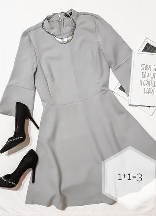 Zara basic базовое миди платье xs-s солнце клеш стильное тренд...