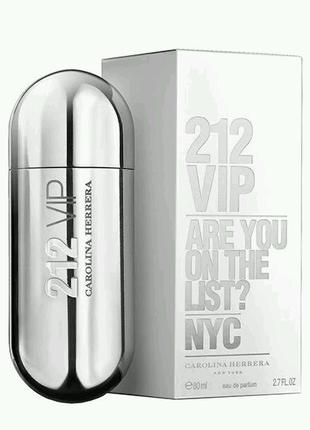 Carolina Herrera 212 VIP Women Silver 80ml