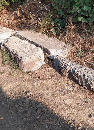 Отдам бесплатно бетонные блоки