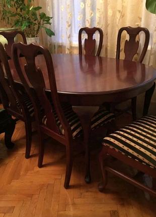 Стол и стулья б/у