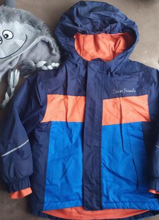 Куртка лыжная демисезонная, зимняя Лупилу и шапка 98-104