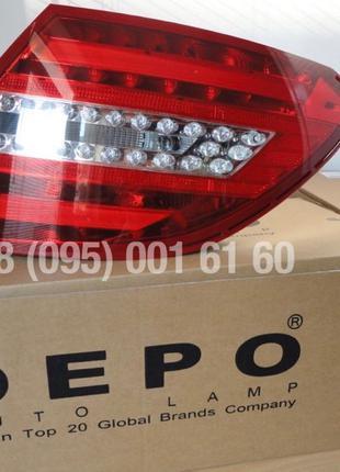 Фонари задние DEPO LED Mercedes-Benz C-Class W204 рестайлинг