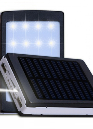 Солнечный повербанк 80000 мАч + Led панель Solar power bank