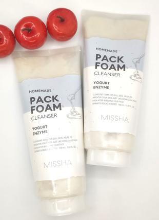 Маска-пенка Missha Homemade Pack Foam Cleanser Yogurt Enzyme