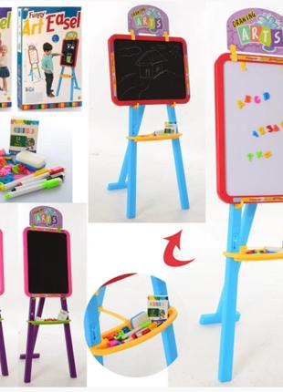 Детский мольберт YM825-826 для рисования двухсторонний