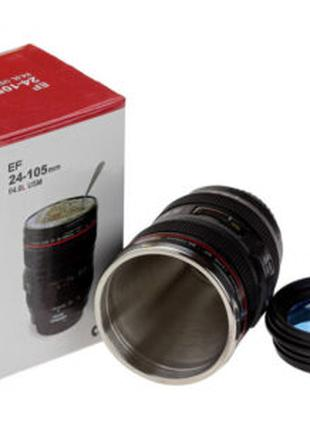 Термокружка термочашка объектив Canon 24-105 с линзой