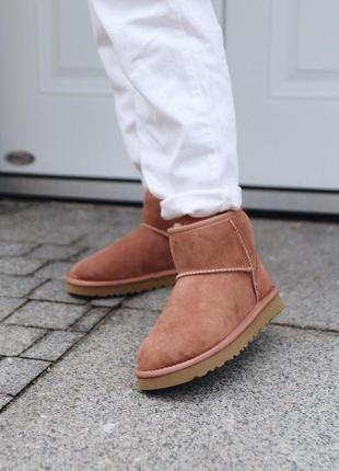 Ugg mini mole  женские замшевые зимние угги/ сапоги/ ботинки 😍...