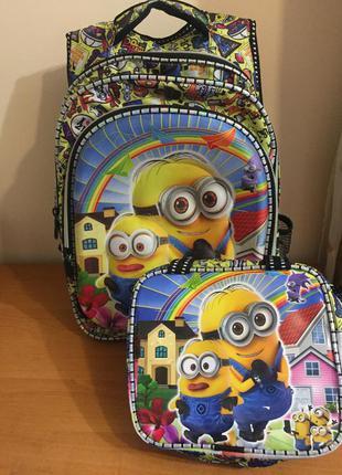 Рюкзак и сумка набор 2 в 1 minions