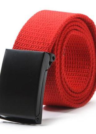Ремень текстильный на пояс, унисекс красный