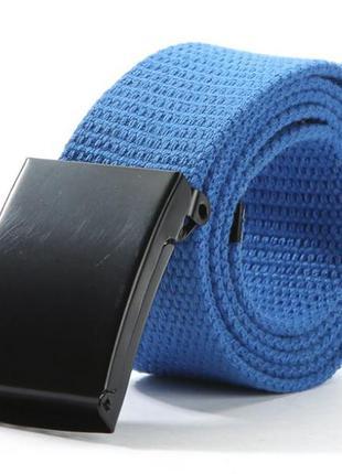 Ремень текстильный на пояс, унисекс синий