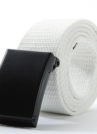 Ремень текстильный на пояс, унисекс белый