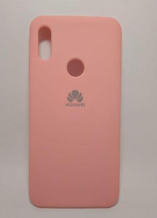 Задня накладка Huawei Y7 2019 Silicone Cover Pink