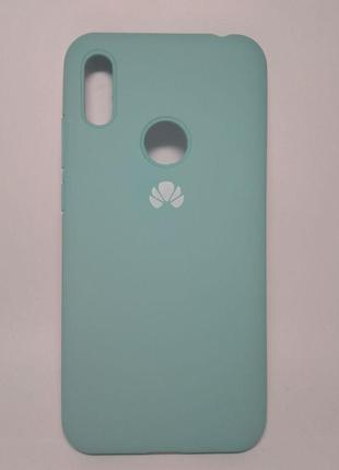 Задня накладка Huawei Y7 2019 Silicone Cover Turquoise