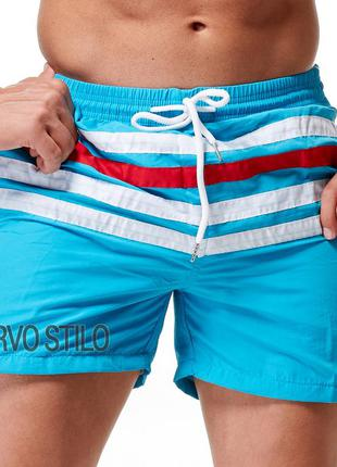 Мужские пляжные плавательные шорты lacoste (для купания, для п...