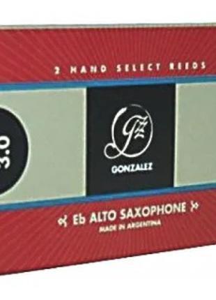 Трость для саксофона альт Gonzalez - Eb alto saxsophone 3 (1шт.)