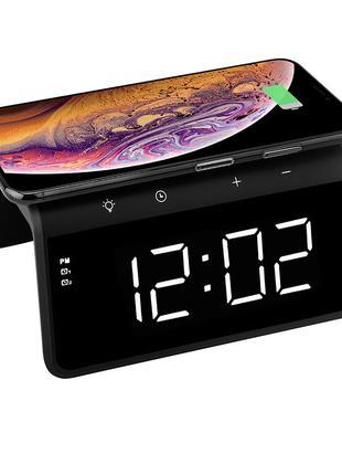 Настольные LED смарт-часы with QI Charger 3 in 1