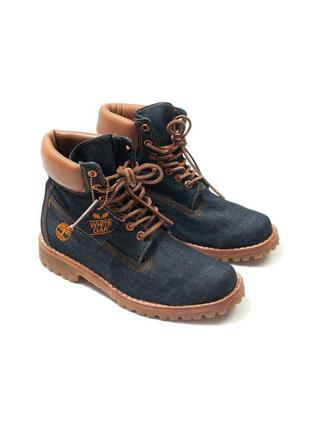 Timberland  white oak мужские ботинки деним джинсовые