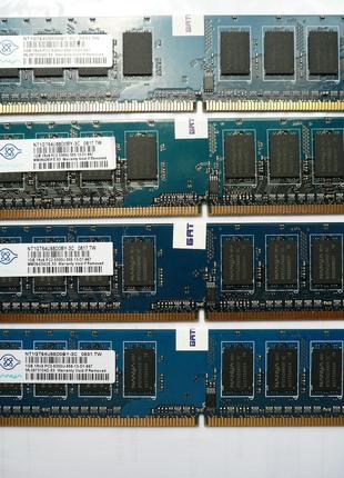 Комплект памяти DDR2 1GB Nanya для компьютеров 4шт