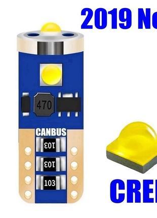 Светодиодные авто-лампы LED для габаритов Т10 5W Canbus (с обм...