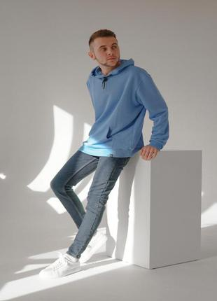 Мужское худи синего цвета