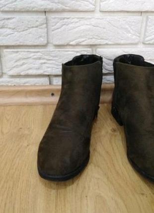 Ботинки челси на ровной подошве, цвета хаки