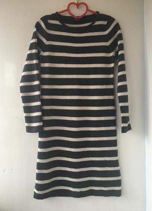 Тёплое шерстяное платье , натуральная шерсть jaeger