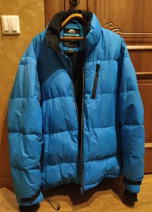 Зимняя мужская куртка пуховик Trespass Blue