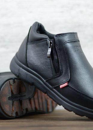 Мужские кожаные зимние ботинки Levis
