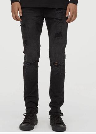 Джинсы стильные модные мужские slim hm размер 29