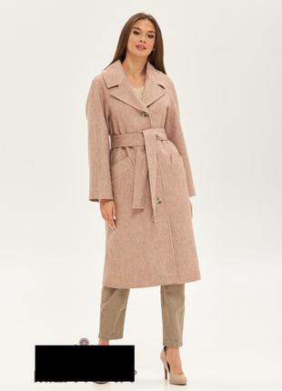 Демисезонное женское пальто из кашемира  с рукавом реглан