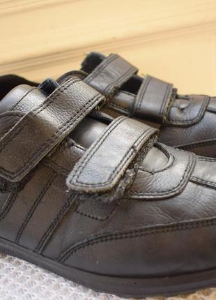 Кожаные туфли мокасины полуботинки на липучках италия р.44 28,...